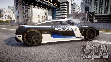 Koenigsegg Agera 2013 Police [EPM] v1.1 PJ3 para GTA 4 left