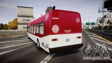 GTA V Brute Bus para GTA 4 Vista posterior izquierda