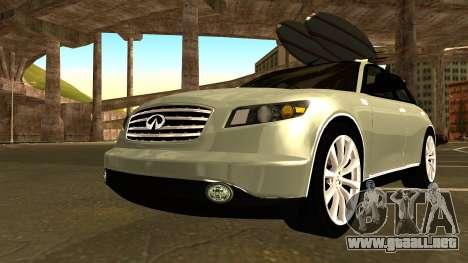 Infiniti FX 45 2007 para visión interna GTA San Andreas