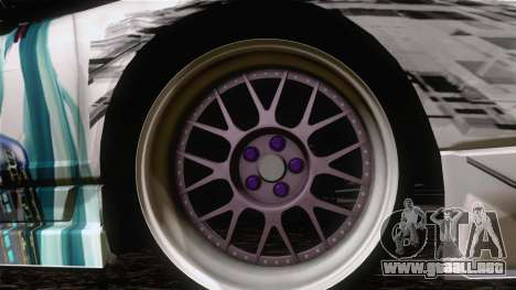 Acura NSX Miku Ghoul Itasha para GTA San Andreas vista posterior izquierda