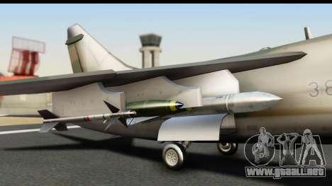 Ling-Temco-Vought A-7 Corsair 2 Belkan Air Force para la visión correcta GTA San Andreas