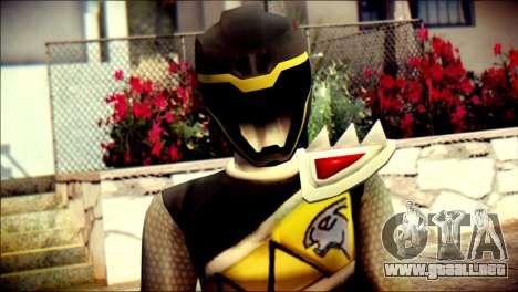 Power Rangers Kyoryu Black Skin para GTA San Andreas tercera pantalla