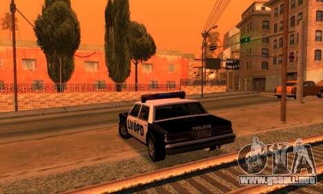 Beta LVPD Police para GTA San Andreas vista hacia atrás