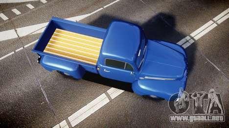 Ford F-1 1949 4WD para GTA 4 visión correcta