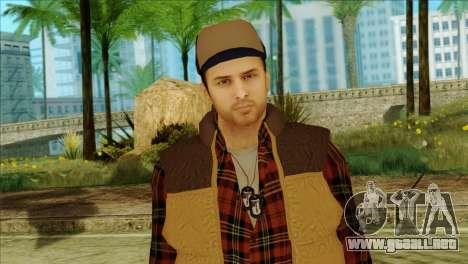 Big Rig Alex Shepherd Skin without Flashlight para GTA San Andreas tercera pantalla