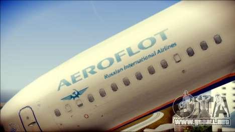 Boeing 737-800 Aeroflot para GTA San Andreas vista hacia atrás