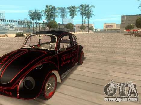 Volkswagen Super Beetle Grillos Racing v1 para la visión correcta GTA San Andreas