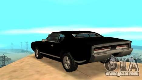 Sabre Charger para vista lateral GTA San Andreas