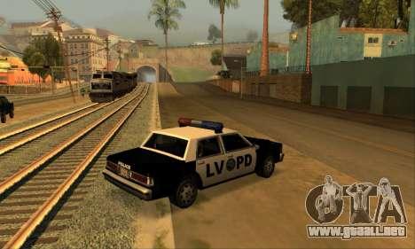 Beta LVPD Police para GTA San Andreas left