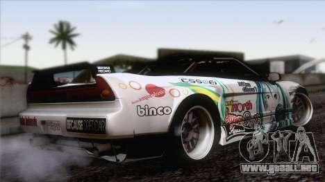 Acura NSX Miku Ghoul Itasha para GTA San Andreas left