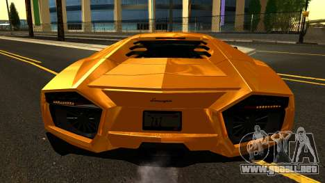 Lamborghini Reventon 2008 para vista lateral GTA San Andreas