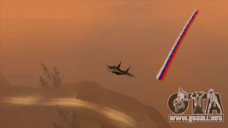 La bandera de Rusia para los aviones para GTA San Andreas segunda pantalla