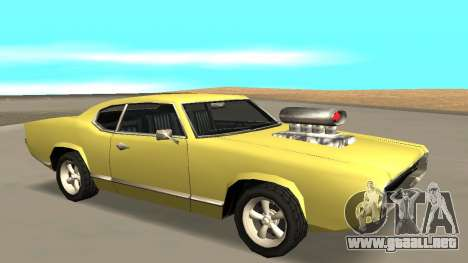 Sabre Charger para GTA San Andreas vista hacia atrás