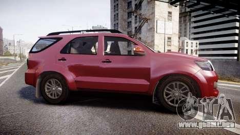 Toyota Hilux SW4 2015 para GTA 4 left