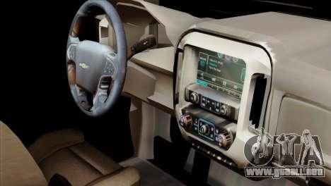 Chevrolet Silverado 2014 LTZ para la visión correcta GTA San Andreas