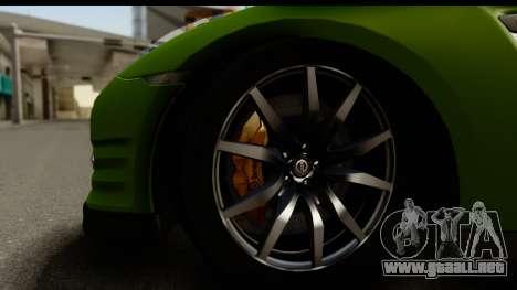 Nissan GT-R Dragster para GTA San Andreas vista hacia atrás