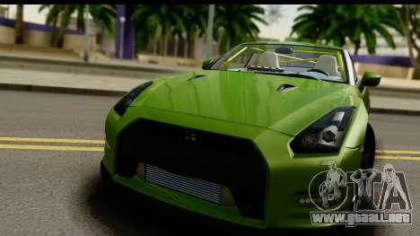 Nissan GT-R Dragster para GTA San Andreas vista posterior izquierda