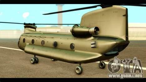 CH-47 Chinook para GTA San Andreas left
