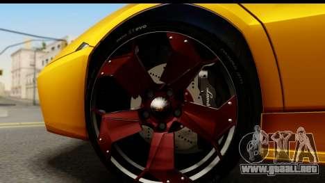 Lamborghini Reventon 2008 para GTA San Andreas vista hacia atrás