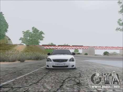 Lada Priora Hatchback para visión interna GTA San Andreas