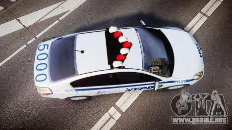 Nissan Altima Hybrid NYPD para GTA 4 visión correcta