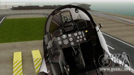 MIG-29A Polish Air Force Kosynierzy para GTA San Andreas vista hacia atrás