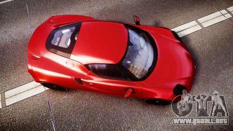 Alfa Romeo 4C 2014 para GTA 4 visión correcta