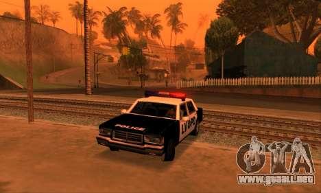 Beta LVPD Police para visión interna GTA San Andreas