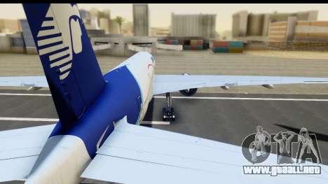 Boeing 777-200ER AeroMexico para GTA San Andreas vista posterior izquierda