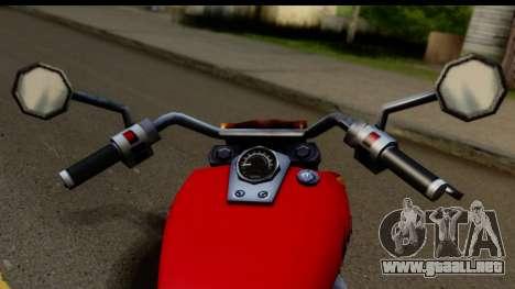 Honda Shadow 750 para GTA San Andreas vista posterior izquierda