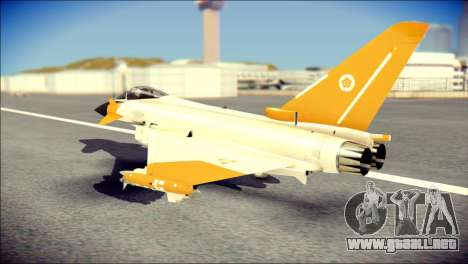 EF-2000 Typhoon  Federal Erusea Air Force para GTA San Andreas left