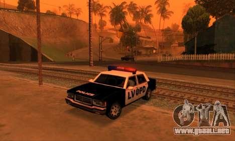 Beta LVPD Police para GTA San Andreas vista posterior izquierda
