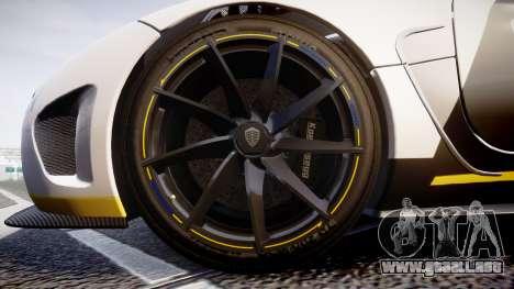 Koenigsegg Agera 2013 Police [EPM] v1.1 PJ3 para GTA 4 vista hacia atrás
