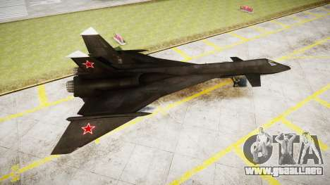 MiG-31 Fire Fox para GTA 4 left