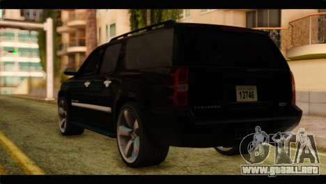 Chevrolet Suburban 2010 FBI para GTA San Andreas left