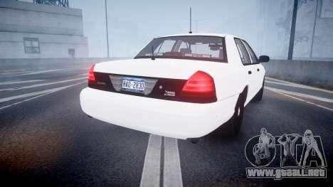 Ford Crown Victoria LCPD Unmarked [ELS] para GTA 4 Vista posterior izquierda
