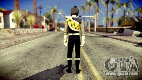 Power Rangers Kyoryu Black Skin para GTA San Andreas segunda pantalla