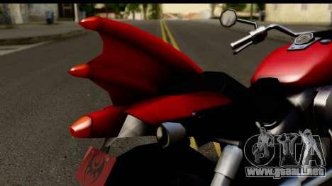 Honda Shadow 750 para GTA San Andreas vista hacia atrás