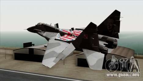 MIG-29A Polish Air Force Kosynierzy para GTA San Andreas left