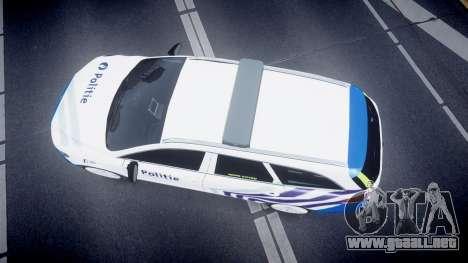 Ford Fusion Estate 2014 Belgian Police [ELS] para GTA 4 visión correcta