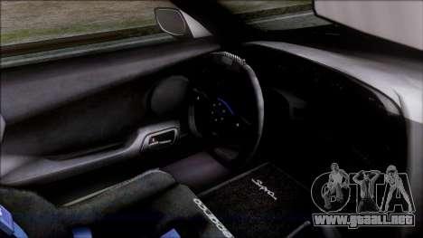 Toyota Supra 1999 Tina Sprout Itasha para la visión correcta GTA San Andreas