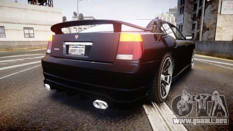 Bravado Buffalo Tuning para GTA 4 Vista posterior izquierda