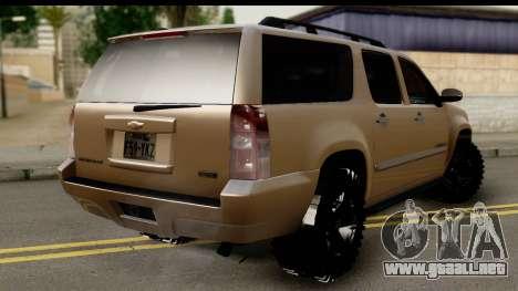 Chevrolet Suburban 4x4 para GTA San Andreas left