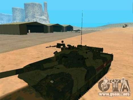 T-80U para GTA San Andreas vista hacia atrás
