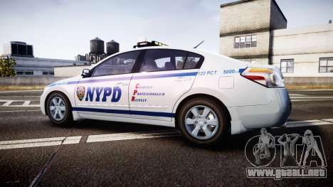 Nissan Altima Hybrid NYPD para GTA 4 left