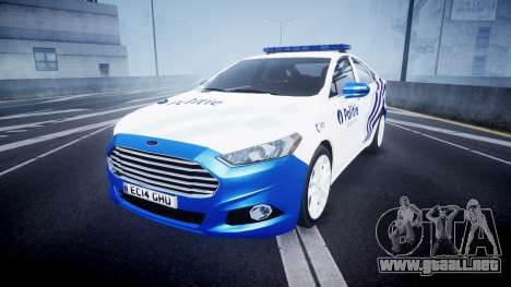 Ford Fusion 2014 Belgian Police [ELS] para GTA 4