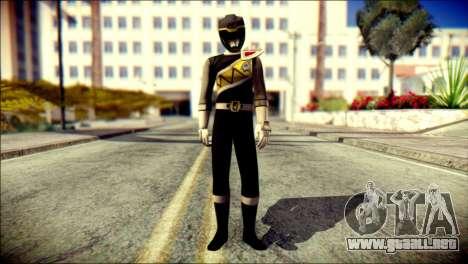 Power Rangers Kyoryu Black Skin para GTA San Andreas