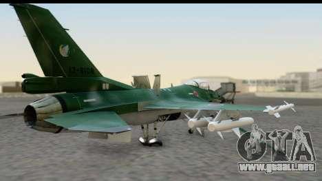 F-2A Zero Dark Green para GTA San Andreas left
