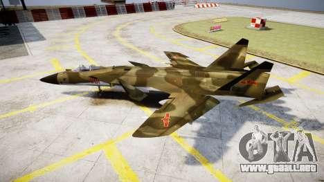 Su-47 Berkut bosque para GTA 4 left