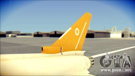 EF-2000 Typhoon  Federal Erusea Air Force para GTA San Andreas vista posterior izquierda